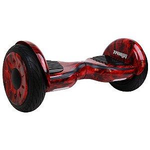 """Hoverboard Elétrico Vermelho Fogo Freego W3S Balance Wheel com Roda de 10"""""""