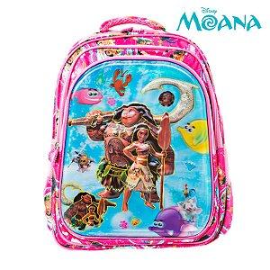 Mochila Infantil Escolar 3D Moana e Maui de Costas