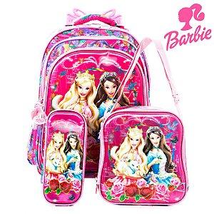 Kit Mochila Escolar Infantil Com Rodinha Barbie em A Princesa e a Plebeia