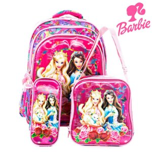 Kit Mochila Escolar Infantil de Costas Barbie em A Princesa e a Plebeia
