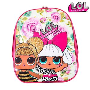 Mochila Infantil Escolar Boneca Lol Surprise De Costas