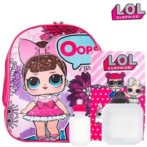 Kit Mochila Infantil Escolar De Costas Boneca Lol Surprise