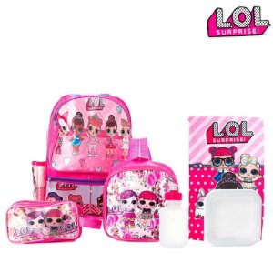 Kit Mochila Escolar Boneca Infantil Lol Surprise de Costas