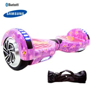 Hoverboard 6,5  Purple Flowers Hoverboardx Bat Samsung+bolsa