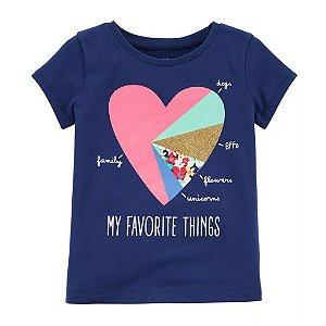 Blusa Minhas Coisas Favoritas Carter´s