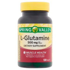 L-Glutamina Spring Valley Suplemento Dietético 500mg 100 Tablets