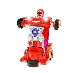 Robô Relâmpago Mcqueen Transformers Brinquedo Carrinho com Luz e Som