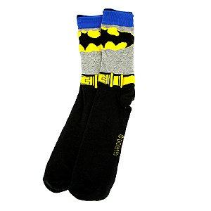 Meia Cano Alto Unissex Estampada Batman