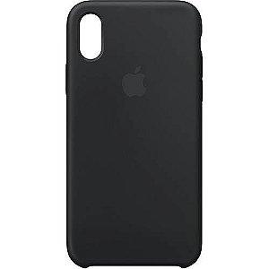 Capa para iPhone X em Silicone Apple Preta