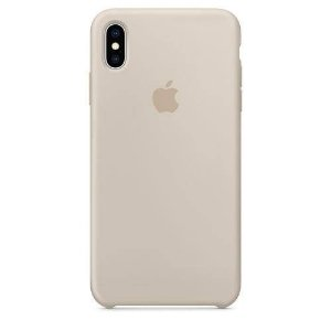 Capa Iphone X Silicone Case Apple Cinza