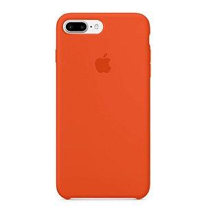 Capa para iPhone 8 Plus e 7 Plus em Silicone Apple Laranja