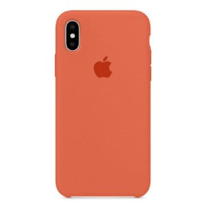 Capa Iphone X Silicone Case Apple Salmão
