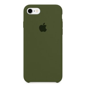 Capa Iphone 7/8 Silicone Case Apple Verde Musgo
