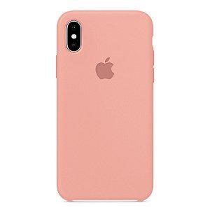 Capa Iphone X Silicone Case Apple Rosa Bebê