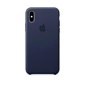 Capa Iphone XR Silicone Case Apple Azul Escuro