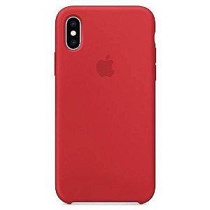 Capa iPhone XS Max Apple Silicone Vermelho