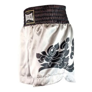 Shorts de Muay Thai Cetim MT13 Dragão Silver Rudel Sports Tamanho P