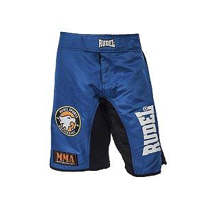 Bermuda Masculino MMA Adler 1 Azul e Preto Rudel Sports Tamanho GG
