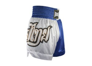 Shorts de Muay Thai MT 09 - Lumpi Azul e Branco Rudel Sports