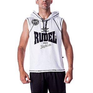 Camiseta Regata Abrigo Boxer III Branco Rudel Sports Tamanho P