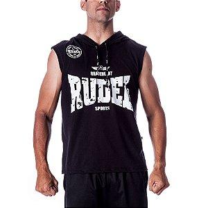 Camiseta Regata Abrigo Boxer III Preto Rudel Sports Tamanho M