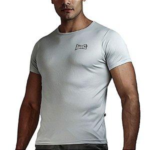 Camiseta Baby Look Muscle Dry Masculino Prata Rudel Sports Tamanho M