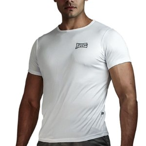 Camiseta Baby Look Muscle Dry Masculino Branco Rudel Sports Tamanho P