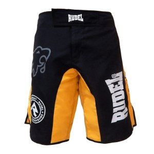 Bermuda Masculino MMA Adler 3 Amarelo e Preto Rudel Sports Tamanho G