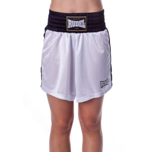 Shorts de Boxe Feminina Classic Branco Rudel Sports Tamanho M