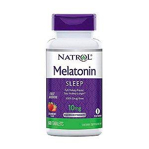 Melatonina Natrol 10mg Sabor Morango Suplemento