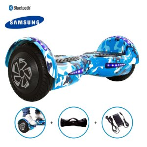 "Hoverboard 8"" Azul Militar HoverboardX Bateria Samsung Bluetooth Smart Balance Com Bolsa"