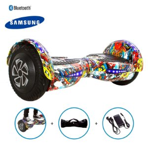 "Hoverboard 8"" Bob Esponja Hoverboard Bateria Samsung Bluetooth Smart Balance Com Bolsa"