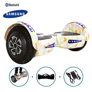 """Hoverboard 8"""" Coração Rosa HoverboardX Bateria Samsung Bluetooth Smart Balance Com Bolsa"""