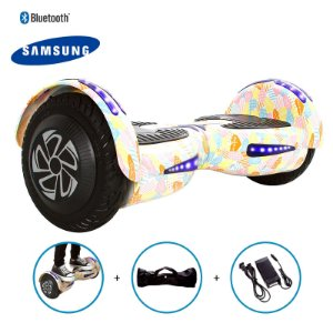 """Hoverboard 8"""" Coração Rosa Hoverboard Bateria Samsung Bluetooth Smart Balance Com Bolsa"""