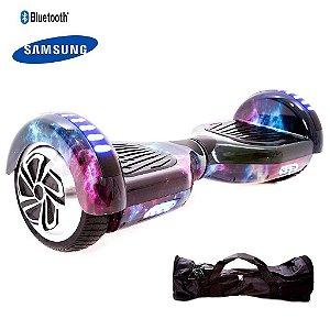 "Hoverboard 6,5"" Polegadas - Smart Balance - Bluetooth - Bateria Samsung - C/ Bolsa - Galaxia"