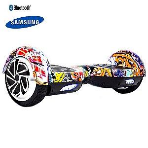 Hoverboard 6,5  Laranja Colorido Foston Bat Samsung C Bolsa