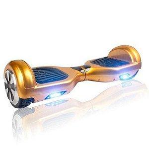 Hoverboard Smart Balance Whell 6.5 Polegadas Dourado Com Bluetooth, Led Frontal E Mochila