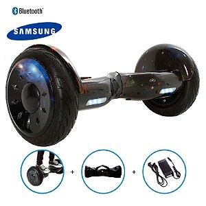 "Hoverboard 10,5"" Galáxia HoverboardX Bateria Samsung Bluetooth Smart Balance Com Bolsa"