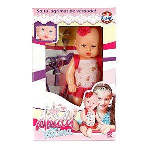 Boneca Tipo Bebê Reborn Analú Toma Vacina e Chora de Verdade Com 6 Acessórios