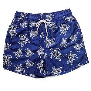 Bermuda Vilebrequin Swimwear Tartaruga Azul Marinho