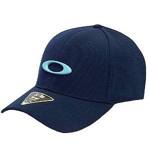 Boné Oakley Tincan Cap Fathom Com Logo Azul Bebe