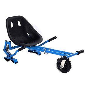 Hoverkart Carrinho Scooter Skate Azul Para Hoverboard Universal Com Suspensão Modelos 6,5, 8, 10