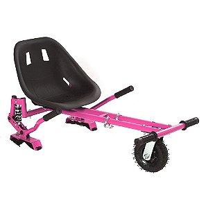 Hoverkart Carrinho Scooter Skate Pink Para Hoverboard Universal Com Suspensão Modelos 6,5, 8, 10