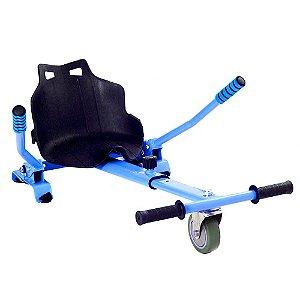Hoverkart Carrinho Scooter Skate Azul Para Hoverboard Universal Com Regulagem Modelos 6,5, 8,10