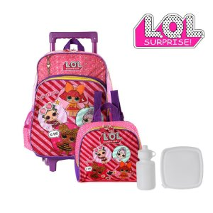 Kit Mochila Infantil Escolar Lol Surprise Com Rodinha