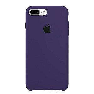 Capa Iphone 7/8 Plus Silicone Case Apple Roxo