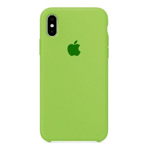 Capa Iphone X Silicone Case Apple Verde