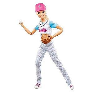 Boneca Barbie Feita Para Mexer Esportista Baseball - Mattel