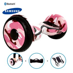 "Hoverboard 10"" Pink Millitary Hoverboard Bateria Samsung Bluetooth Smart Balance Com Bolsa"