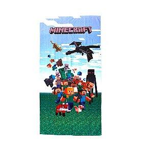 Toalha De Banho Felpuda Minecraft Infantil Personagens